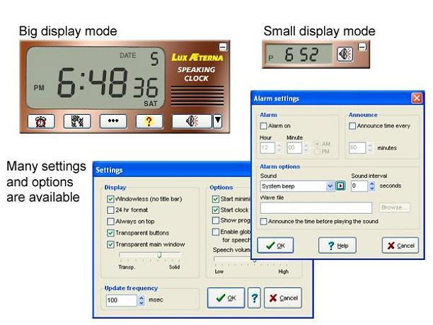 Screenshot af Multilingual Speaking Clock