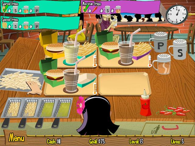 Screenshot af Burger Island