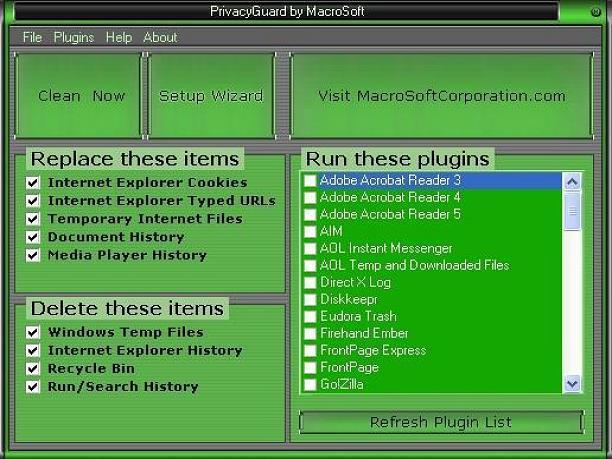 Screenshot af Privacy Guard