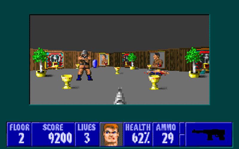 Screenshot af Wolfenstein 3D