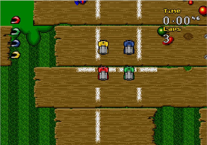 Screenshot af Micro Machines
