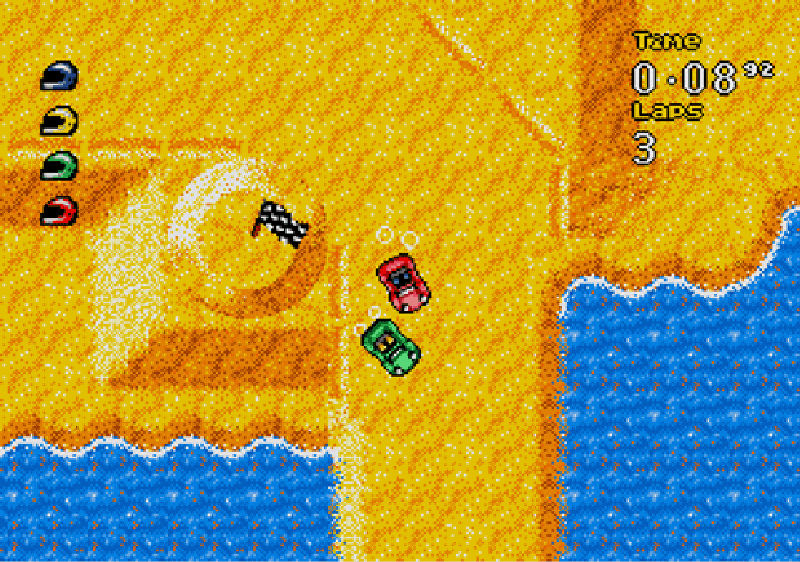 Screenshot af Micro Machines