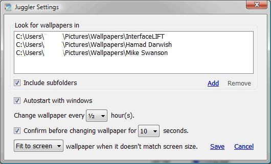 Screenshot af Wallpaper Juggler