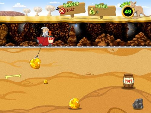 Screenshot af Gold Miner Vegas
