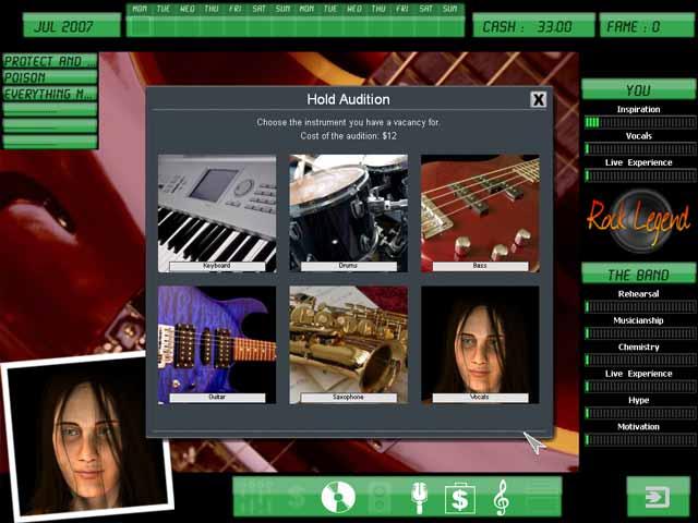 Screenshot af Kudos Rock Legend