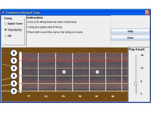 Screenshot af Guitarpad Free Digital Tuner