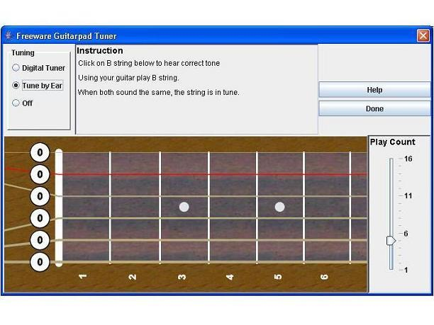 Screenshot af Guitarpad Free Digital Tuner