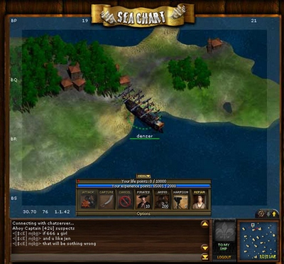 Screenshot af Seafight Online Pirate Game