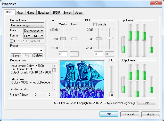 Screenshot af AC3 Filter