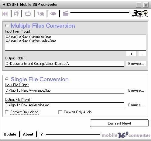 Screenshot af Mobile 3GP Converter