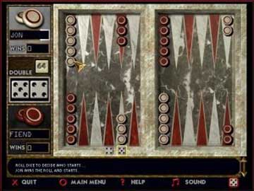 Screenshot af BackGammon