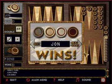 Screenshot af BackGammon