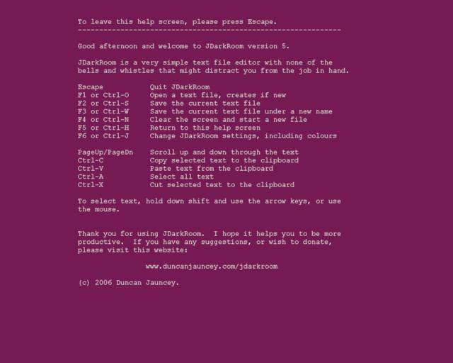 Screenshot af JDarkRoom