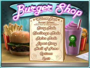 Screenshot af Burger Shop