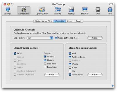 Screenshot af MacTuneUp til Mac
