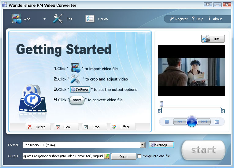 Screenshot af Wondershare Video Converter Ultimate