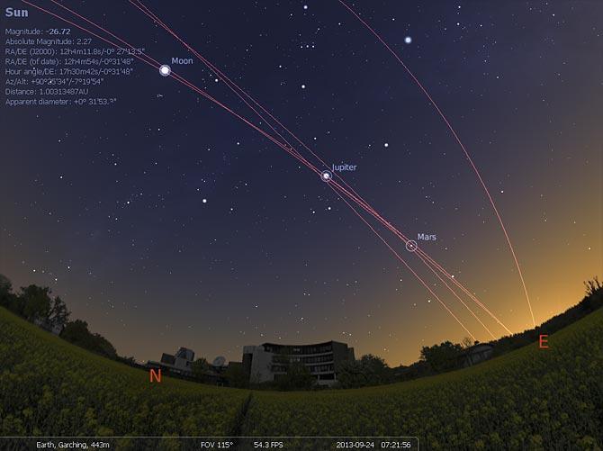 Screenshot af Stellarium