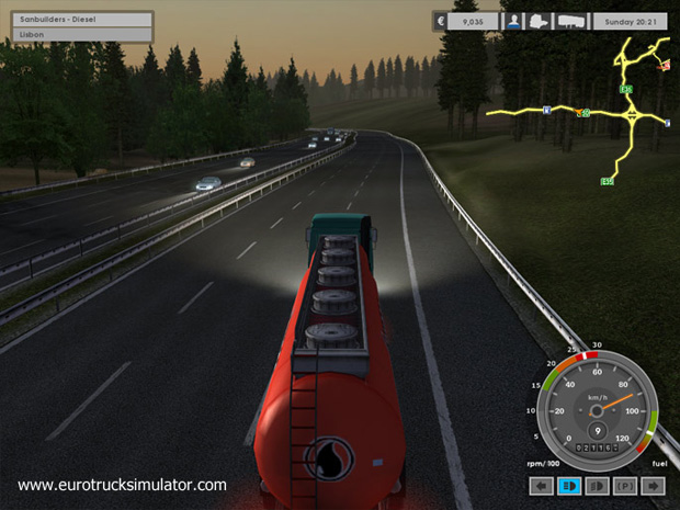 Screenshot af Euro Truck Simulator