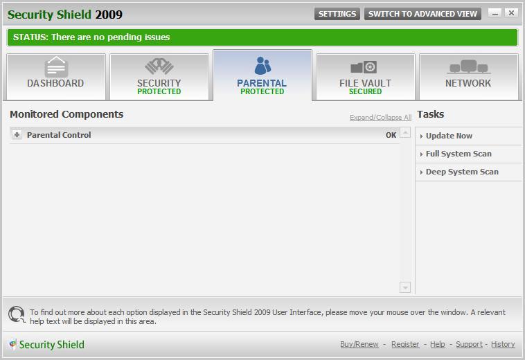 Screenshot af The Security Shield