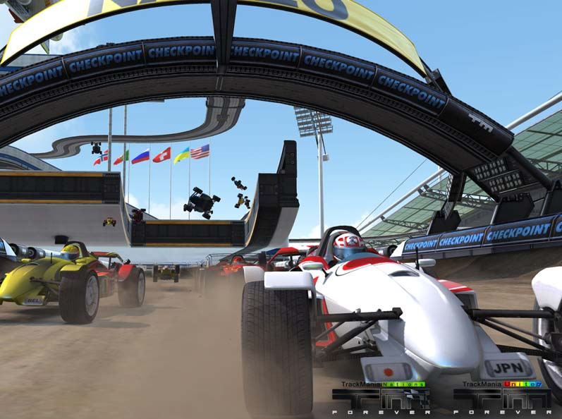 Screenshot af TrackMania Nations Forever