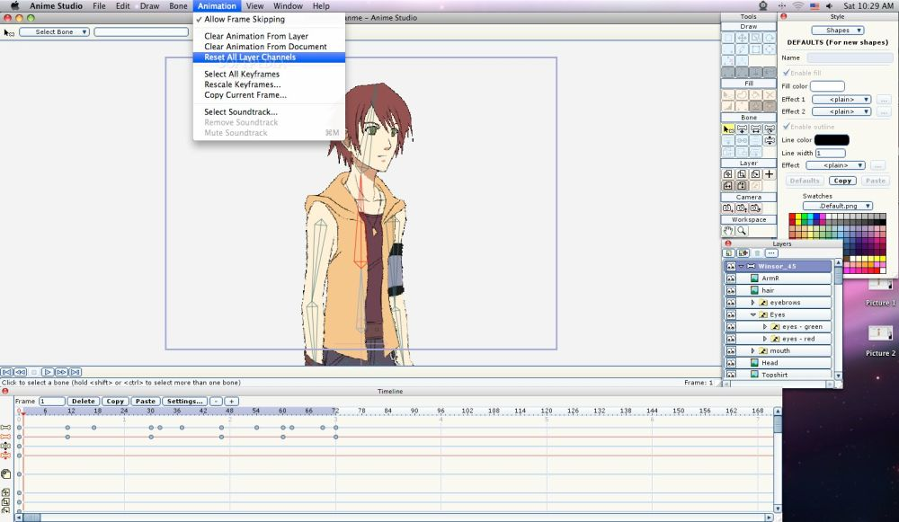 Screenshot af Anime Studio