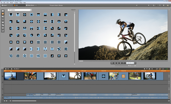Screenshot af Pinnacle Studio