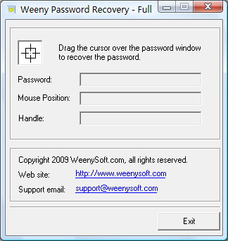 Screenshot af Weeny Password Recovery