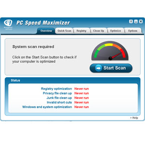 Screenshot af PC Speed Maximizer