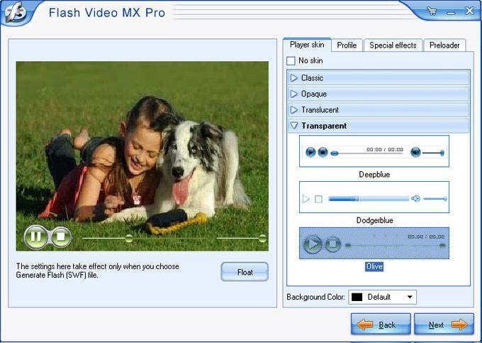 Screenshot af Flash Video MX Pro