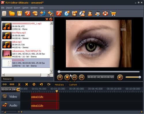 Screenshot af FLV Editor Pro