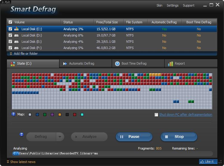 Screenshot af Smart Defrag