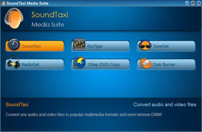 Screenshot af SoundTaxi Media Suite (Dansk)