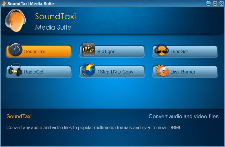 Screenshot af SoundTaxi Media Suite (Dansk)