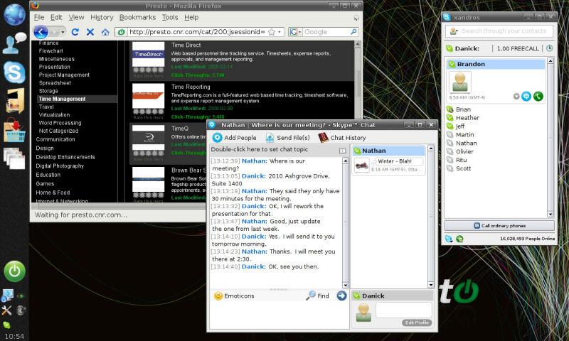 Screenshot af Presto