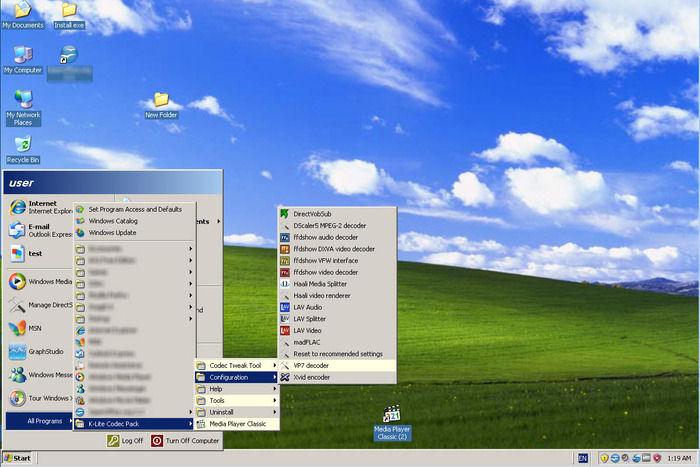 Screenshot af K-Lite Mega Codec Pack