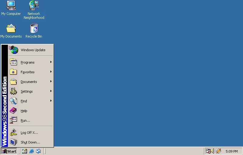 Screenshot af Unofficial Windows 98 SE Service Pack