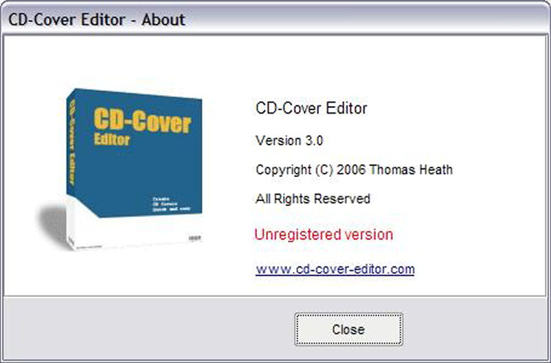 Screenshot af CD-Cover Editor