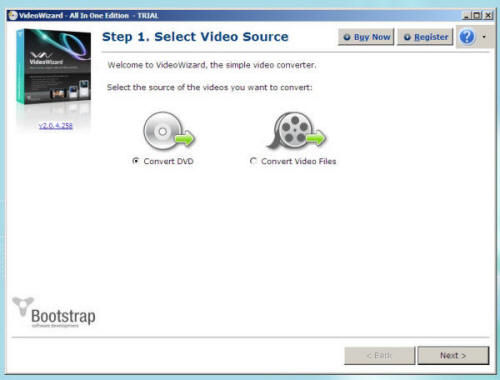 Screenshot af VideoWizard - All-in-One DVD & Video Converter