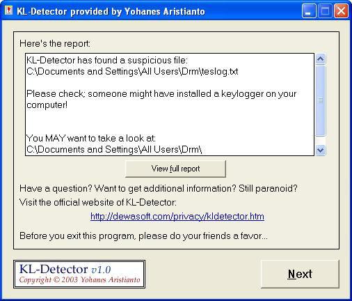 Screenshot af KL-Detector