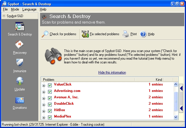Download Spybot Search and Destroy Free gratis her