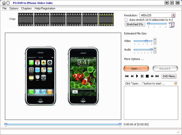 Screenshot af PQ DVD to iPhone Video Suite