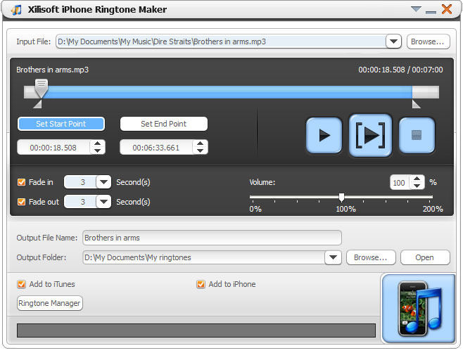 Screenshot af Xilisoft iPhone Software Suite