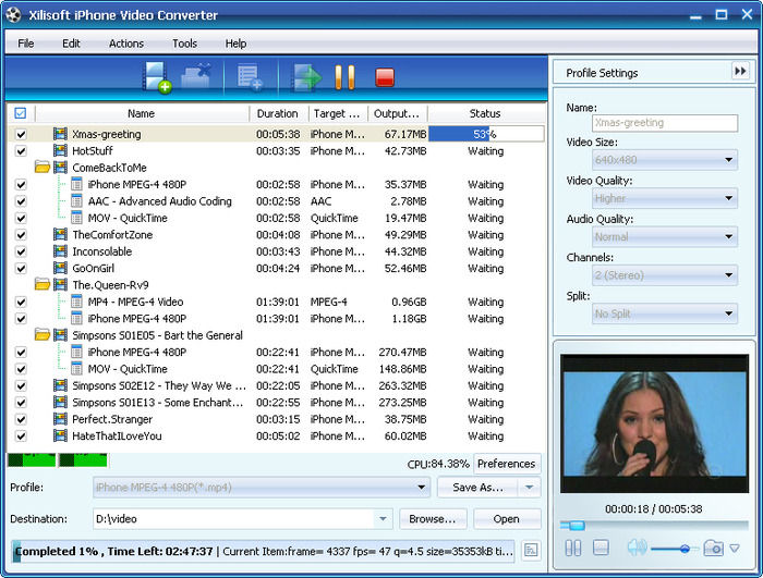 Screenshot af Xilisoft iPhone Software Suite