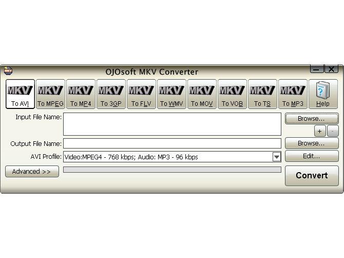 Screenshot af OJOsoft MKV Converter
