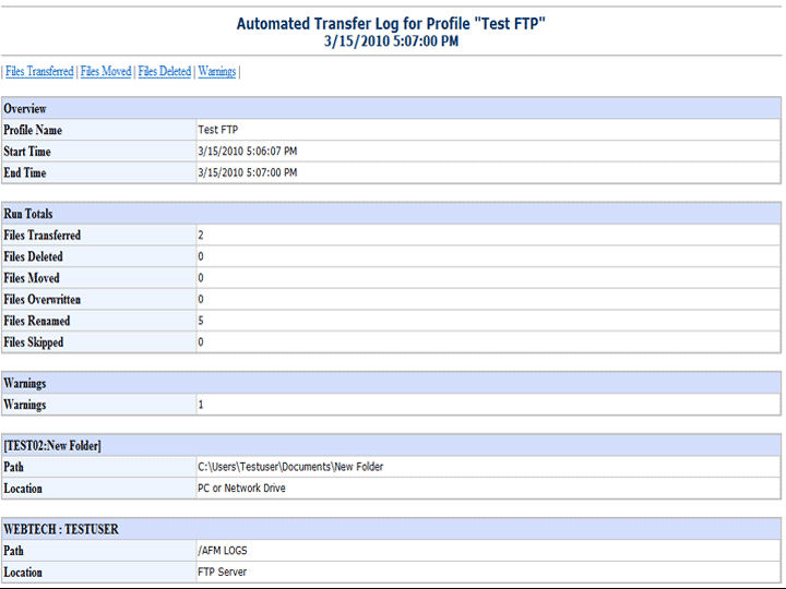Screenshot af Auto FTP Manager