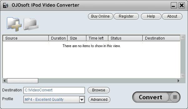 Screenshot af OJOsoft iPod Video Converter