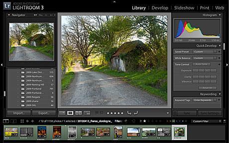 Screenshot af Adobe Photoshop Lightroom