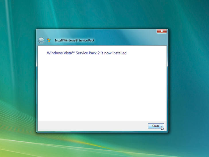 Screenshot af Windows Vista Service Pack