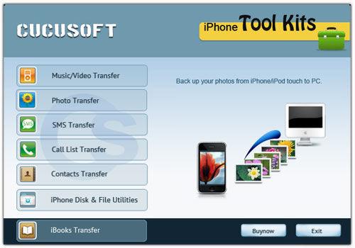 Screenshot af Cucusoft iphone Tool Kits