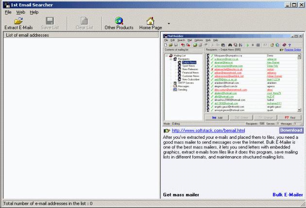 Screenshot af 1st Email Searcher